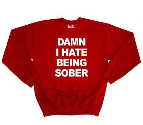 Damn i hate being sober sweater - Inct Apparel