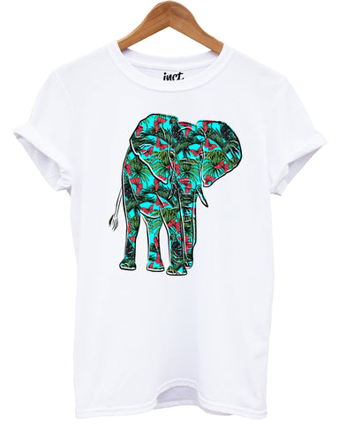 Elephant Butterfly White T Shirt - Inct Apparel