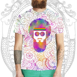 Psychedelic Festival Beard Tee -  Cool Beard Bro Co. - Inct Apparel - 1