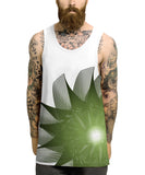 Green Swirl All Over Vest - Inct Apparel - 2