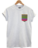Hippy Pattern Pocket T Shirt - Inct Apparel - 3