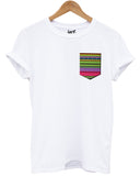 Hippy Pattern Pocket T Shirt - Inct Apparel - 1