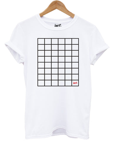 Inct Cross Box White T Shirt - Inct Apparel
