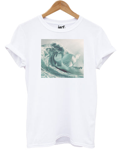 Inct Wave White T Shirt - Inct Apparel