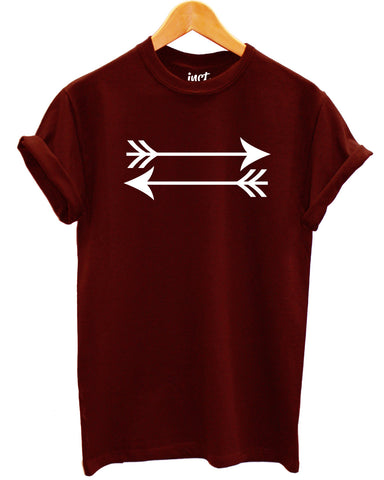 Left Right Arrow Maroon T Shirt - Inct Apparel