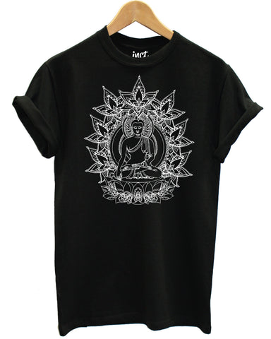 Lotus Buddha Black T Shirt - Inct Apparel