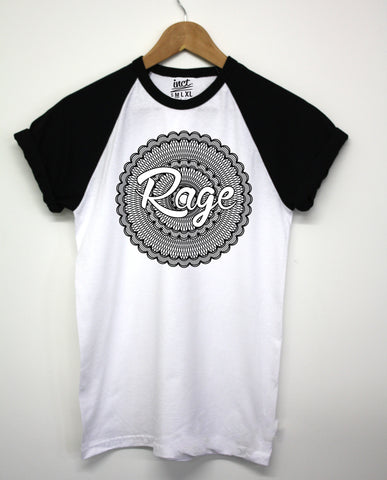 Rage Mandala Black Baseball - Inct Apparel