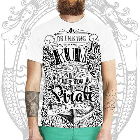 Rum n Pirate Tee -  Cool Beard Bro Co. - Inct Apparel