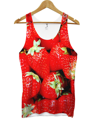 Strawberry All Over Vest - Inct Apparel - 1
