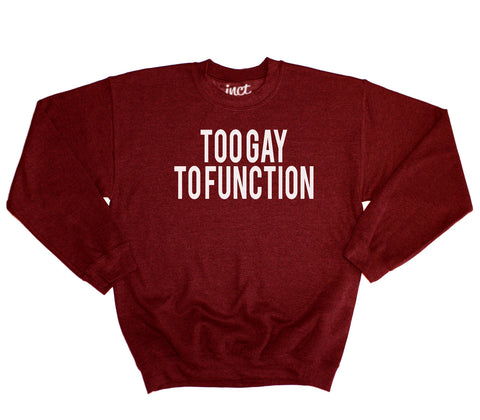 Too Gay To Function Sweater - Inct Apparel