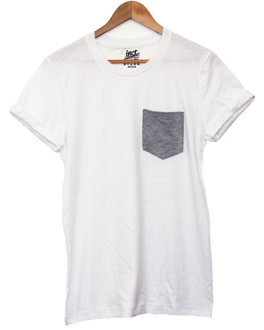 Basic Grey Pocket T Shirt - Inct Apparel