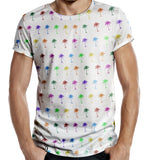 Distinkt Youth Palm Tree All Over Print T shirt - Inct Apparel - 2