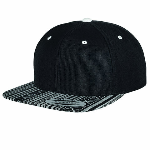 Aztec Black/White Snapback - Inct Apparel