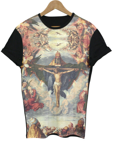 Adoration Black All Over T Shirt - Inct Apparel - 1