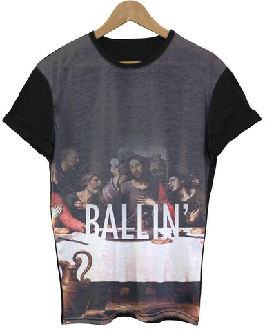 Ballin' Black All Over T Shirt - Inct Apparel - 1