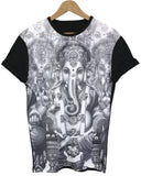 Ganesh Black All Over T Shirt - Inct Apparel - 1