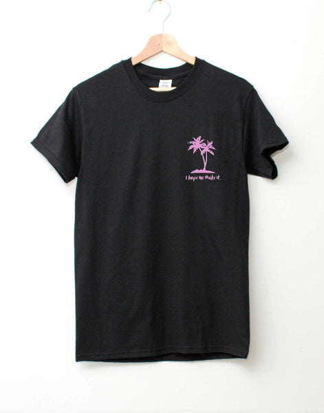 I hope we make it pocket print t-shirt (black)