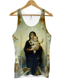 Blessed Mary holding baby Jesus all over vest - Inct Apparel - 1