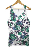 Green blue floral all over vest - Inct Apparel - 1