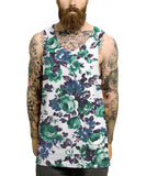 Green blue floral all over vest - Inct Apparel - 2