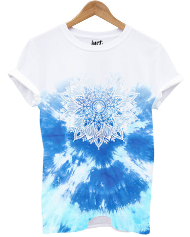 Blue Mandala All Over T Shirt - Inct Apparel