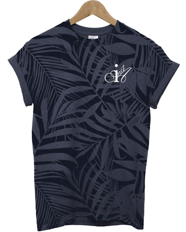Blue Palm Navy All Over T Shirt - Inct Apparel