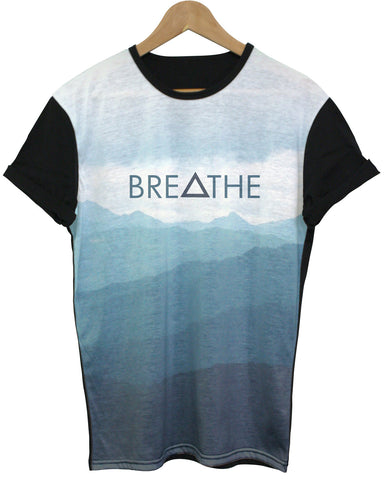 Breathe Black All Over T Shirt - Inct Apparel - 1