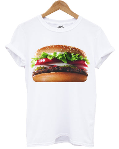 Whopper burger white t shirt - Inct Apparel
