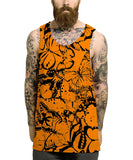 Butterfly Orange All Over Vest - Inct Apparel - 2