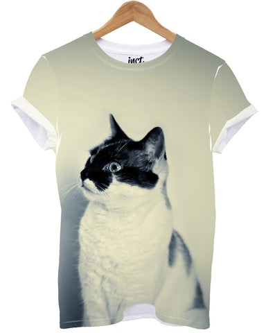 Cat all over print t shirt - Inct Apparel
