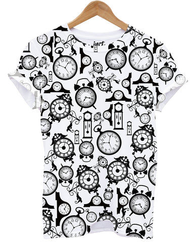 Clock All Over Print T Shirt - Inct Apparel