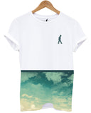 Distinkt Youth Summer Clouds Crew Neck T shirt - Inct Apparel - 1