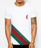 Distinkt Youth Teal Sash Crew Neck T shirt - Inct Apparel - 3