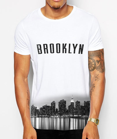 Distinkt Youth Brooklyn Skyline Crew Neck Tshirt - Inct Apparel