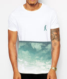 Distinkt Youth Summer Clouds Crew Neck T shirt - Inct Apparel - 2