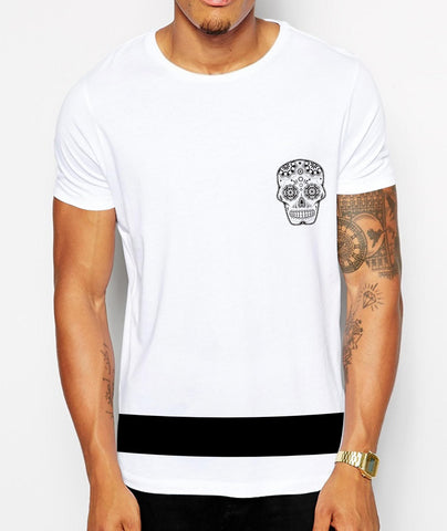 Distinkt Youth Candy Skull Band Crew Neck Tshirt - Inct Apparel - 1