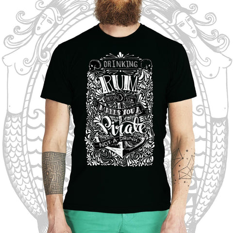 Dark Rum-n-Pirate Tee -  Cool Beard Bro Co. - Inct Apparel