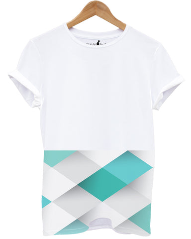 Distinkt Youth Diamond Pattern T shirt - Inct Apparel - 1