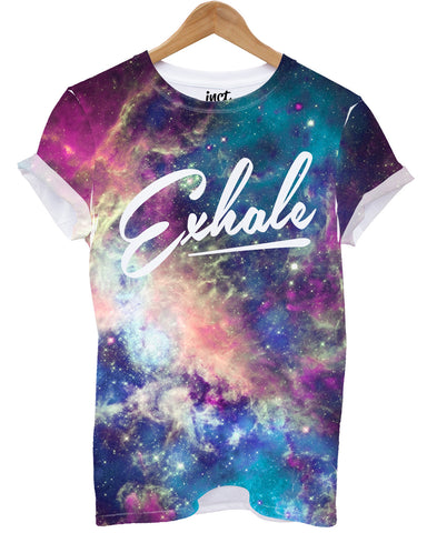 Exhale universe all over print t shirt - Inct Apparel