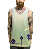 Palm tree fade all over vest - Inct Apparel - 2