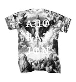 Adoration Black and White All Over T Shirt - Inct Apparel - 3