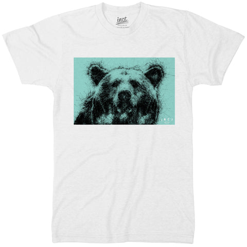 Bear Grizzly Sketch T Shirt - Inct Apparel - 1