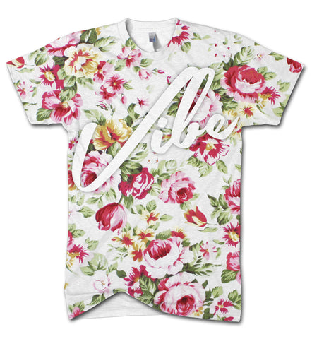 Vibe floral all over print t shirt - Inct Apparel