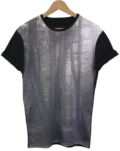 Forest Black All Over T Shirt - Inct Apparel - 1