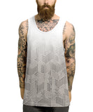 Grey fade geometric shapes all over vest - Inct Apparel - 2