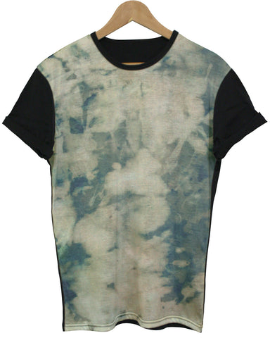 Bleached Green Black All Over T Shirt - Inct Apparel - 1