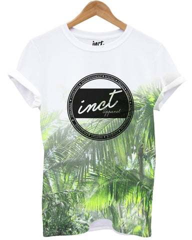 Green Palm INCT Logo All Over T Shirt - Inct Apparel