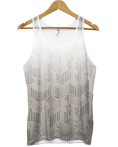 Grey fade geometric shapes all over vest - Inct Apparel - 1