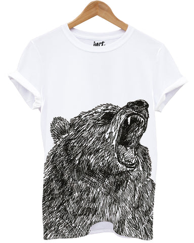 Grizzle Bear All Over T Shirt - Inct Apparel