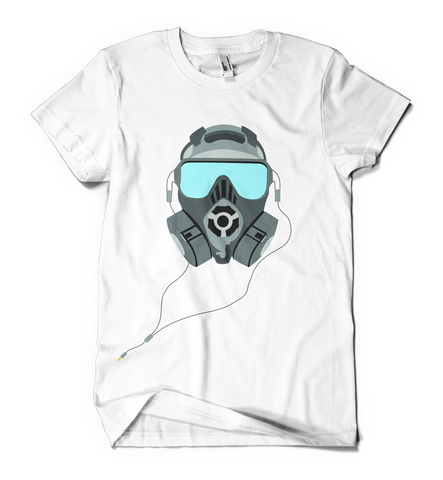 Gas Mask t shirt (white) - Inct Apparel
